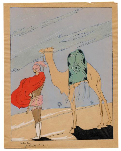 "An Art Deco Robert Polack Planographic Print Éditions Nilsson Ca. 1927 ""Desert"""