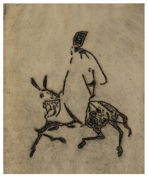 A 1950's Expressionist Etching Of Don Quixote