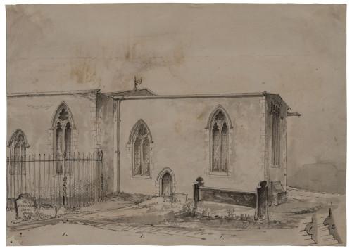 1842 Stokenchurch Architectural British Drawing Wall Art