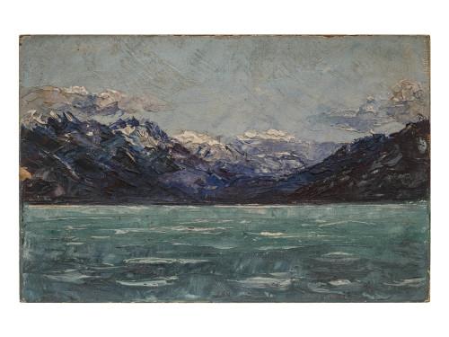 An Alaskan Wall Art Landscape Painting L. Davis 1913