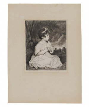 19c. Antique Wall Art Print Age of Innocence Reynolds