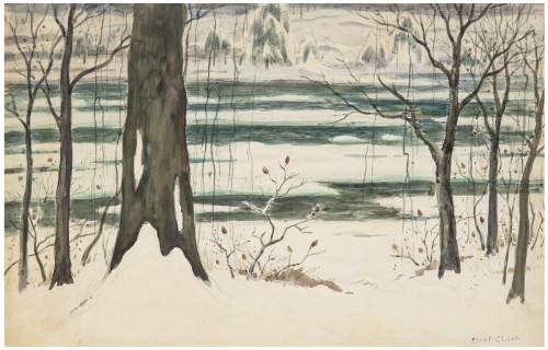 An Original Signed Elliot Clarke Watercolor Landscape Scene Study