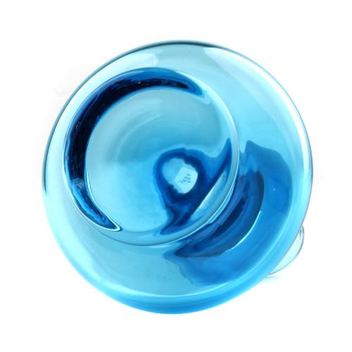 A Modern Glass Vase Blue Home Accent Vase