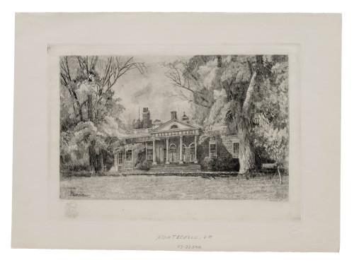 A Robert Shaw Monticello Virgina Historical Wall Art Print