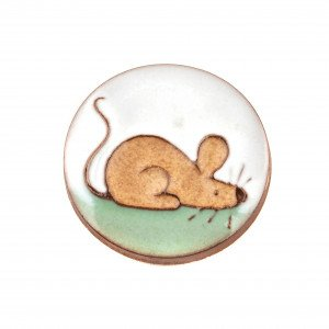 Rycraft handmade pottery mouse fridge magnet