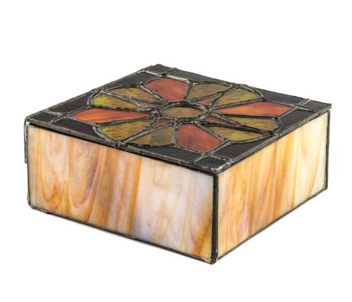 Slag glass box