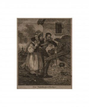 19c. German Wall Art Print Fatherland Defender