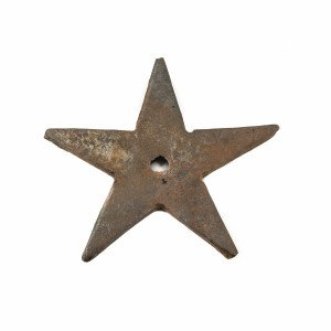 An Antique Hardware American Cast Iron Star
