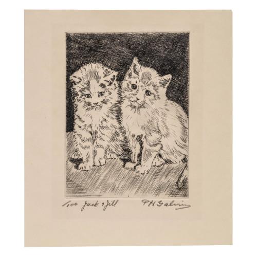 A Vintage Kitten Wall Art Print