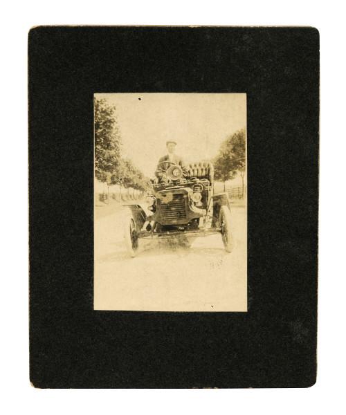 Antique Car Albumen Photograph