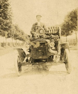 Antique car albumen photograph main image