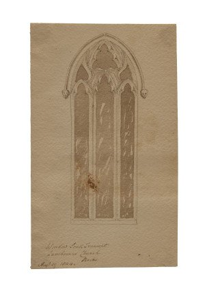 antique British drawing