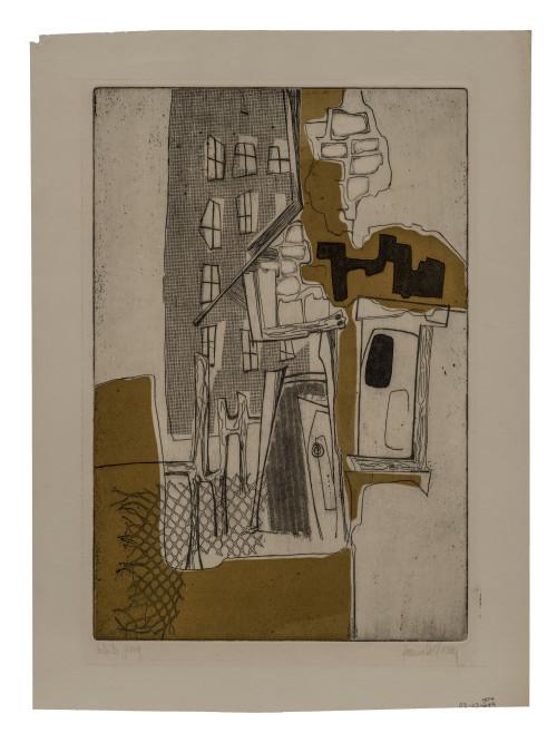 DeYoung Original Vintage Abstract Art Print