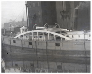 An Antique Glass Plate Negative Photograph Ship Harbor Scene The Vanderbuilt NY Central RR Line