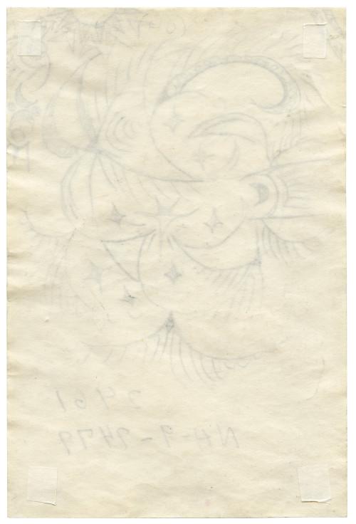 An Original Charles Burchfield Study Drawing