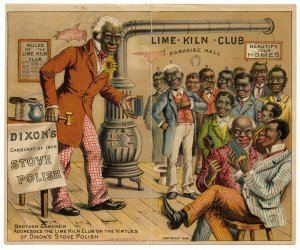 An Antique 1886 Lime Kiln Club Dixon's Stove Polish Trade Card Ephemera