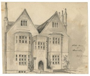 An Antique British Drawing Study Hinton House Hurst Wilts Sep 7 1840