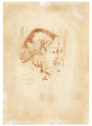 An Antique Drawing Of A Girl Signed Renoir