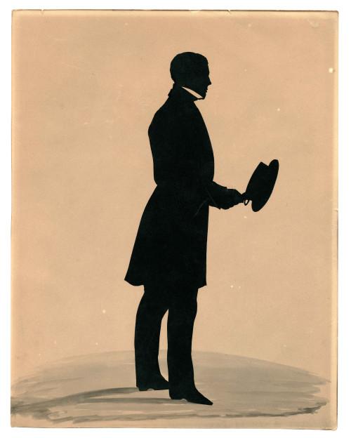 A 19th Century Full Figure Hollow-Cut Silhouette