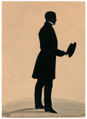 A 19th Century Full Figure Hollow-Cut Silhouette