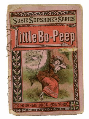 An Antique Little Bo-Peep Susie Sunshine Series McLoughin Bros Illustrated Children's Book