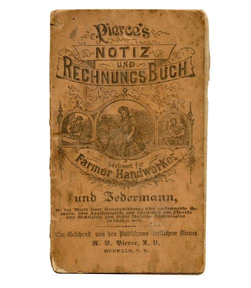 An Antique Pierce's 1876 Notiz Und Rechnung Buch Farmer Handwerker Antique Ephemera Note Book