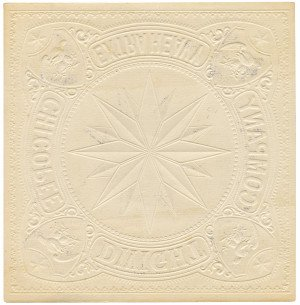 An Antique Light Blue Ground Chicopee Dwight Company Extra Heavy Embossed Paper Trade Label 1875