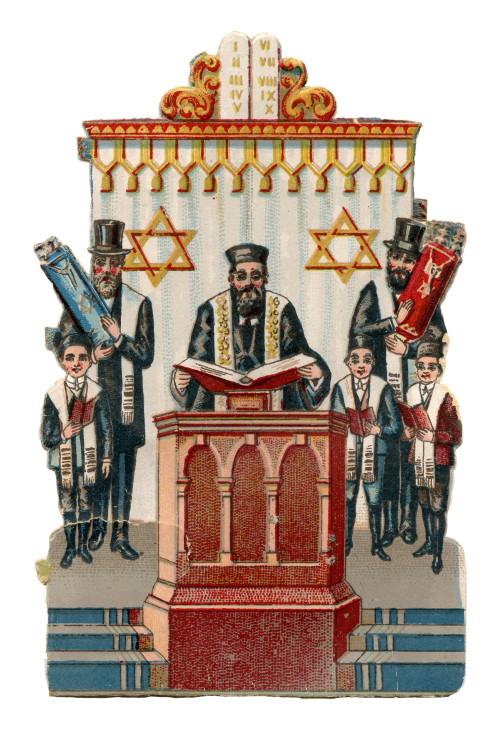 An Antique Judaica Rabbi Card Ephemera