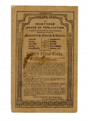 An Antique 19th Century A Pastor's Inquiries Addressed To The Communicants Of His Charge Philadelphia