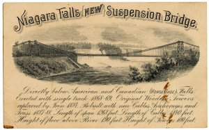 An Antique Niagara Falls New Suspension Bridge Advertising Trade Card 1884 Gies & Co Buffalo N.Y.
