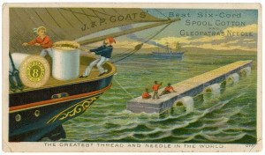 J & P Coats Spool Cotton & Collectable Trade Card Ephemera Cleopatra's Needle