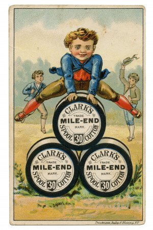 An Antique Collectable Trade Card Clark's Mile-End Spool CottonBest Six Cord Trautmann, Bailey & Blampey, N.Y.
