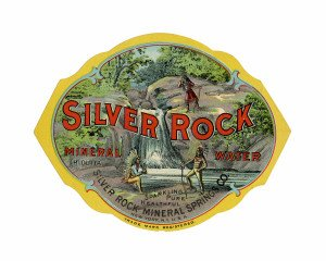 An Antique Collectable Trade Label For Silver Rock Mineral Water Sparkling Pure Healthful New York, N.Y. U.S.A