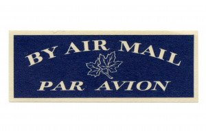 An  Early Vintage By Air Mail Par Avion Unused Stamps