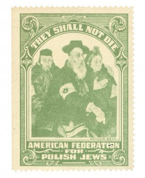 Arthur Szyk They Shall Not Die American Federation For Polish Jews Stamp