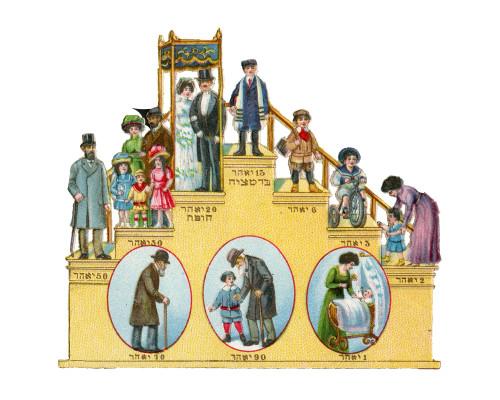 An Antique Judaica Ephemera Staircase Card 1