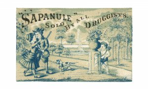 An Antique Sapanule Elixir Ephemera Trade Card Hiding Cupid 2