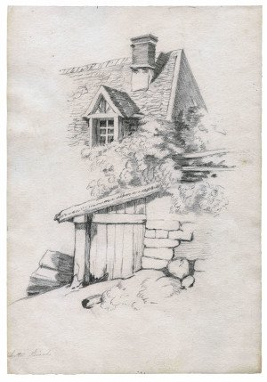 Georgian Era Art Pencil Drawing 19th Century 1
