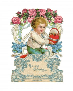 Vintage Valentines Day Pop-Up Old Fashion Greeting Card For My Valentine 2