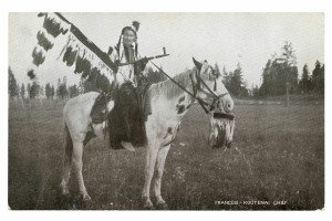 Vintage Postcard Francois Kootenai Tribe Indian Chief Montana 1