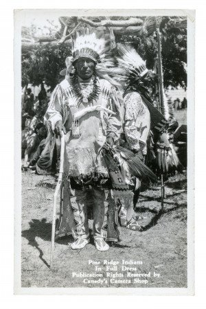 Vintage Postcard Photograph RPPC Sioux Tribe Pine Ridge Indian 2