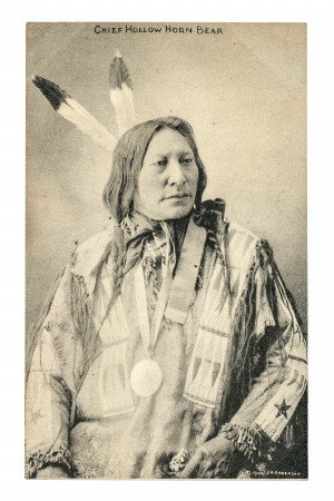 Original Postcard Lakota Chief Hollow Horn Bear J.A. Anderson 2