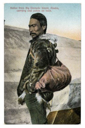 Vintage Postcard Alaskan Native Big Diomede 2