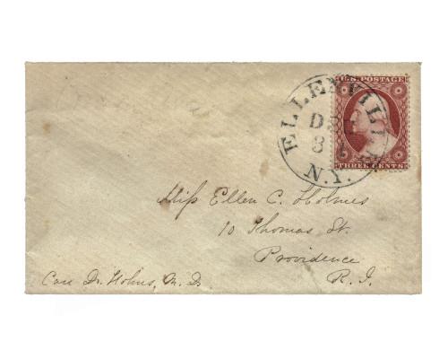 U.S. postal cover NY-RI, Scott #26