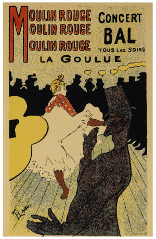 A Vintage Moulin Rouge Concert Bal Toulouse Lautrec Lithograph