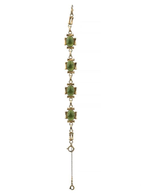 """A Vintage Sentiment 12K Gold Filled """"Imperial Jade"""" Style bracelet"""