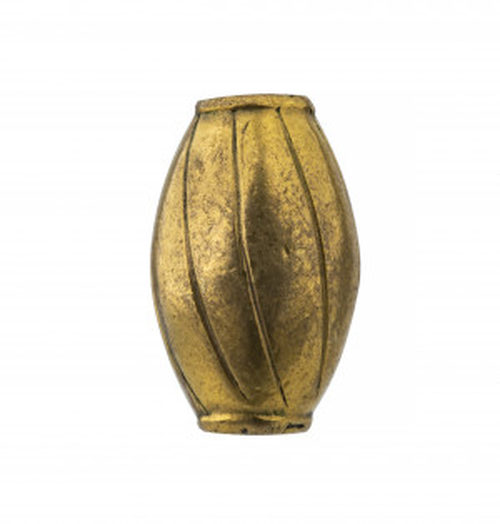 An Antique Mixed Metal Edo Era Japanese Cylinder Form Ojime Bead