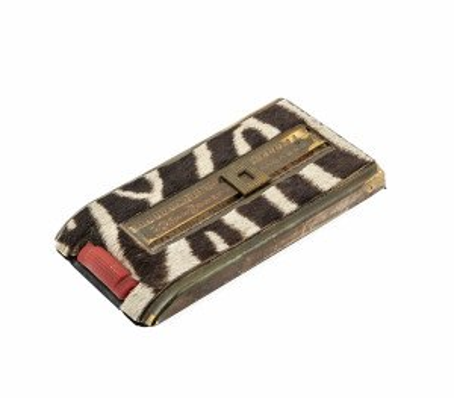 Vintage zebra stationary pad decor accent