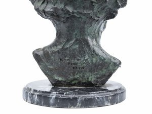 A Patinated Bronze Bust After Auguste Rodin Gustav Mahlar Alexis Rudier Foundry