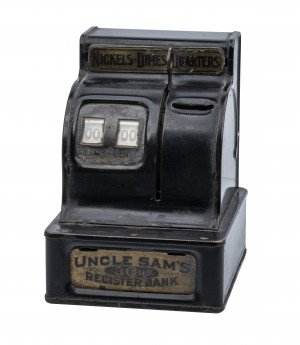 A Vintage Durable Toy & Novelty Company Uncle Sam's Register Bank